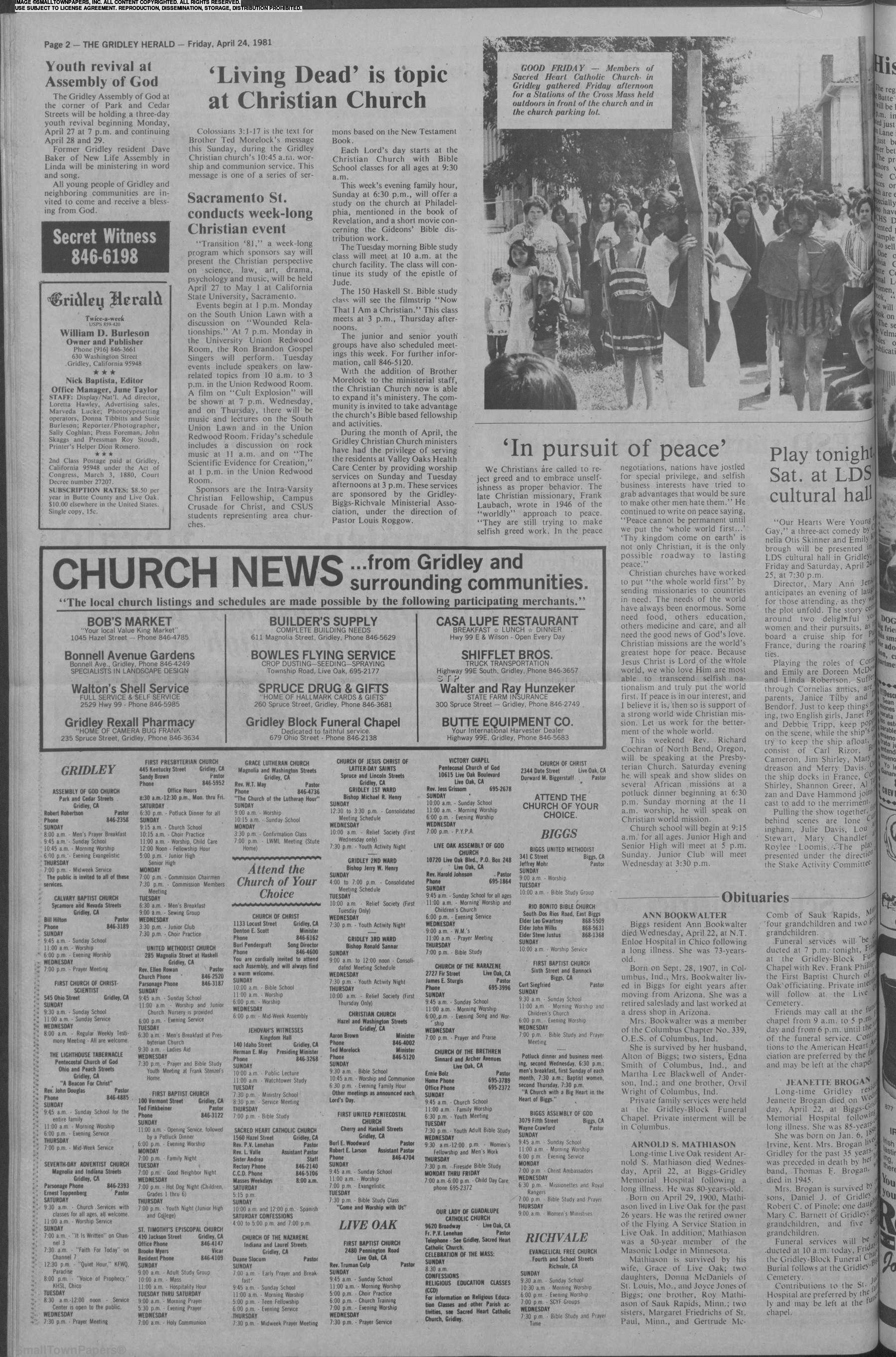 The Gridley Herald April 24, 1981: Page 2