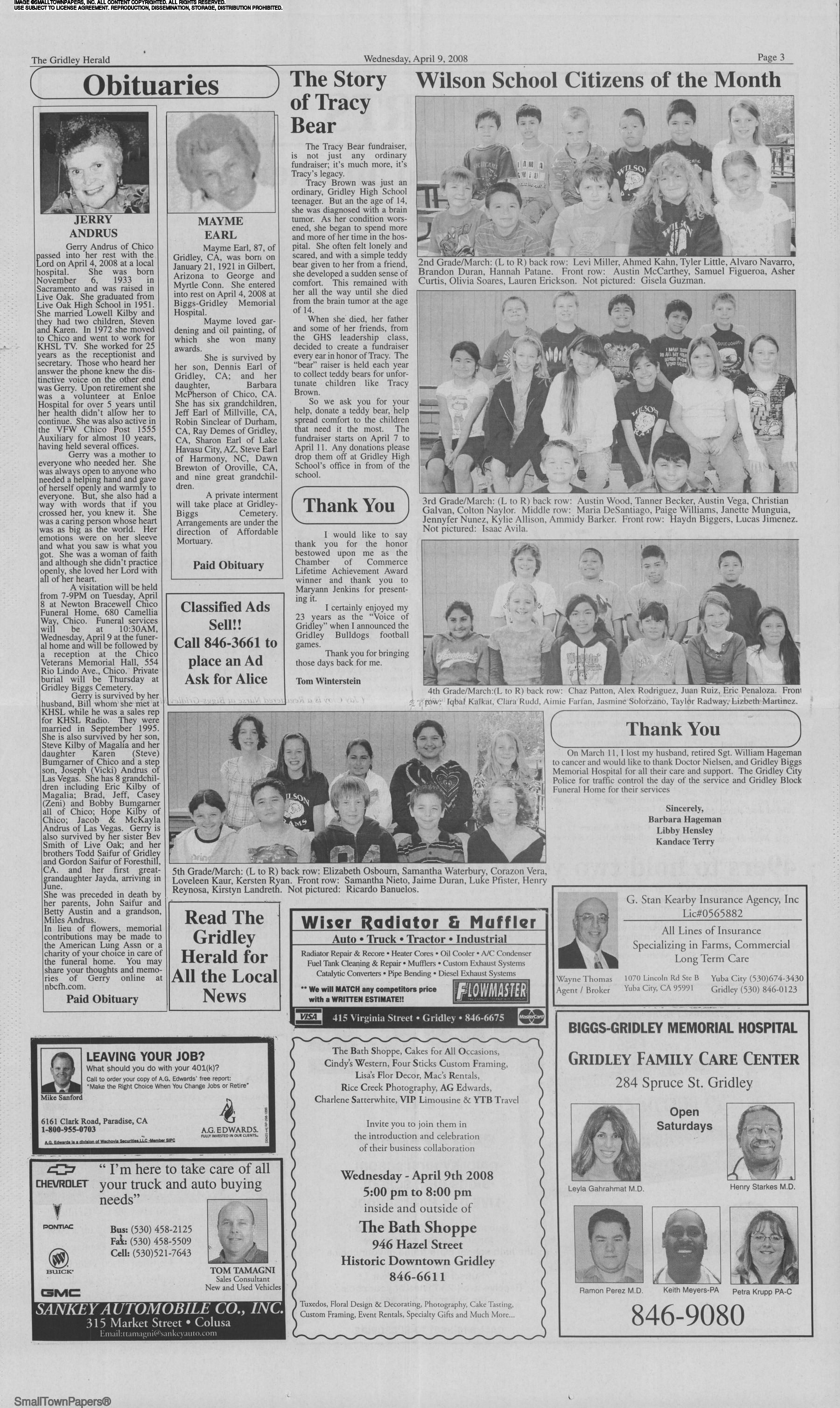The Gridley Herald April 9, 2008: Page 3